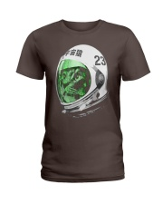 Astronaut Space Cat green screen version Ladies T-Shirt front