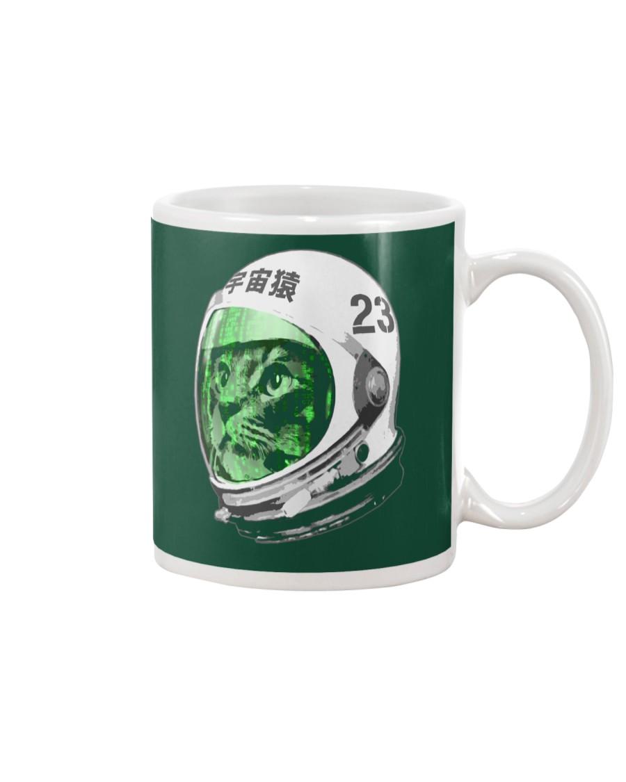 Astronaut Space Cat green screen version Mug