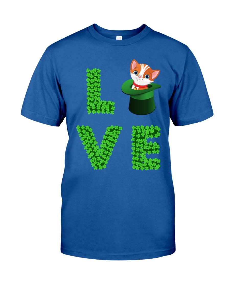Dog Shirt Cat Cat Leprechaun  St Pattrick Day  Classic T-Shirt