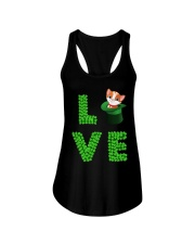 Dog Shirt Cat Cat Leprechaun  St Pattrick Day  Ladies Flowy Tank thumbnail