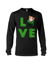 Dog Shirt Cat Cat Leprechaun  St Pattrick Day  Long Sleeve Tee thumbnail