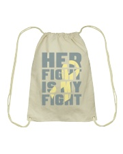 Her Fight Is My Fight Spina Bifida Awareness Mom Drawstring Bag thumbnail
