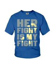 Her Fight Is My Fight Spina Bifida Awareness Mom Youth T-Shirt thumbnail