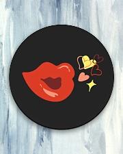 Kiss deign Circle Coaster aos-coaster-round-front-lifestyle-5