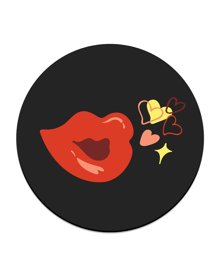 Kiss deign Circle Coaster