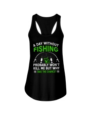 A Day Without Fishing Ladies Flowy Tank thumbnail