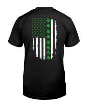 St Patrick's Day Irish American Flag Classic T-Shirt back