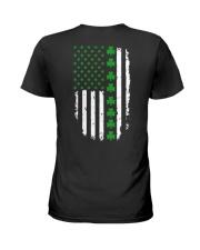 St Patrick's Day Irish American Flag Ladies T-Shirt thumbnail