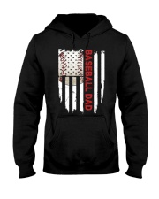 Baseball Dad American Flag T Shirt Hooded Sweatshirt thumbnail