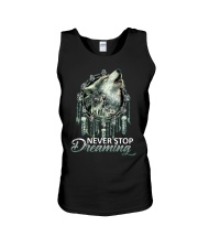 WOLF - NEVER STOP DREAMING Unisex Tank thumbnail