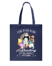 Stay iI Bed Reading Tote Bag tile