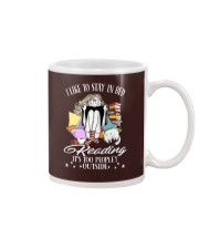 Stay iI Bed Reading Mug tile