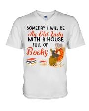 Full Of Books V-Neck T-Shirt tile
