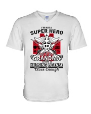 Nursing License V-Neck T-Shirt tile