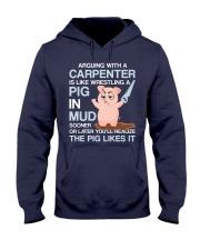 The Pig Likes It Hooded Sweatshirt tile
