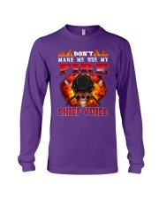 Don't Make Me Use My Chief Voice  Long Sleeve Tee tile