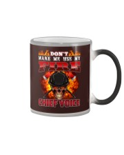 Don't Make Me Use My Chief Voice  Color Changing Mug tile