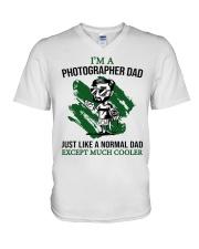 Photographer Dad  V-Neck T-Shirt tile
