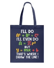Draw The Line Tote Bag tile
