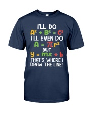 Draw The Line Classic T-Shirt front