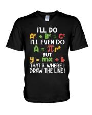 Draw The Line V-Neck T-Shirt tile