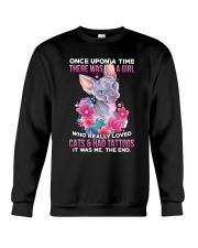 Cat Tattoo Crewneck Sweatshirt tile