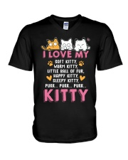 Love My Cat V-Neck T-Shirt tile