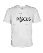 Stay Focus V-Neck T-Shirt tile
