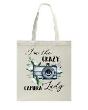 Crazy Camera Lady Tote Bag tile