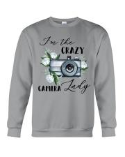 Crazy Camera Lady Crewneck Sweatshirt tile
