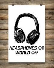 Headphones On 11x17 Poster aos-poster-portrait-11x17-lifestyle-14