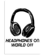 Headphones On 11x17 Poster front