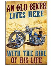 An Old Biker Lives Here 11x17 Poster front