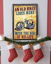 An Old Biker Lives Here 11x17 Poster lifestyle-holiday-poster-4