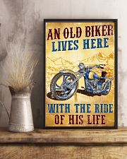 An Old Biker Lives Here 11x17 Poster lifestyle-poster-3