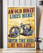 An Old Biker Lives Here 11x17 Poster lifestyle-poster-4