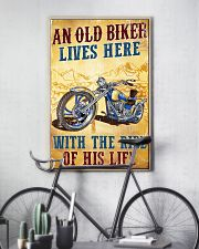 An Old Biker Lives Here 11x17 Poster lifestyle-poster-7