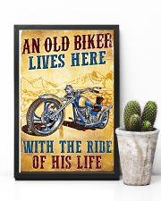 An Old Biker Lives Here 11x17 Poster lifestyle-poster-8