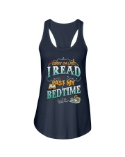 I Read Past My Bedtime Ladies Flowy Tank tile
