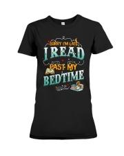 I Read Past My Bedtime Premium Fit Ladies Tee tile