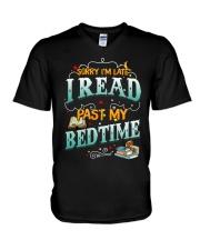 I Read Past My Bedtime V-Neck T-Shirt tile