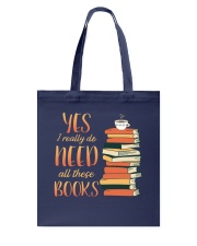 Needs All These Books Tote Bag tile
