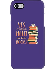 Needs All These Books Phone Case tile