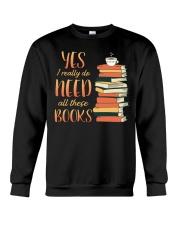 Needs All These Books Crewneck Sweatshirt tile