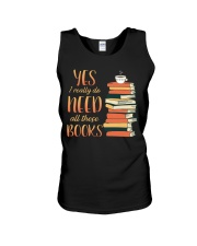 Needs All These Books Unisex Tank tile