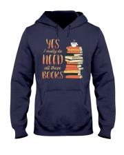 Needs All These Books Hooded Sweatshirt tile