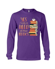 Needs All These Books Long Sleeve Tee tile