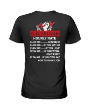 Electrician Hourly Rate Ladies T-Shirt tile
