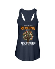 A Day Without Reading Ladies Flowy Tank tile