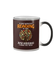 A Day Without Reading Color Changing Mug tile